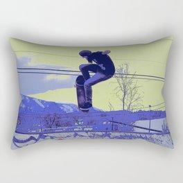 Getting Air - Skateboarder Rectangular Pillow