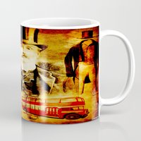 england Mugs featuring England Vintage  by Joe Ganech