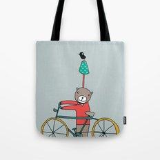 Biker Bear Tote Bag