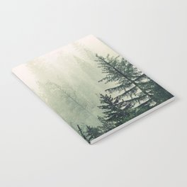Foggy Pine Trees Notebook