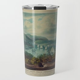 West Point, from Philipstown by W.J. Bennet (1831) Travel Mug