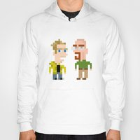 jesse pinkman Hoodies featuring Mr White & Jesse Pinkman by HypersVE