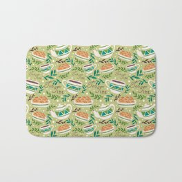 Tea Time Pattern Bath Mat