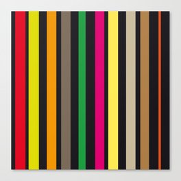 bold stripes and color Canvas Print