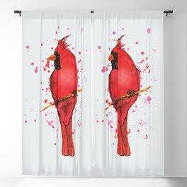Northern cardinal Watercolor Blackout Curtain