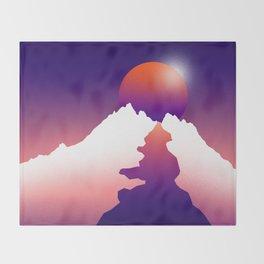 Spilt moon Throw Blanket