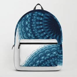 Mandala of Quantum Abundance (blue) Backpack