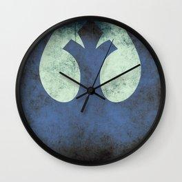 Rebel Grunge Emblem | Star War Art Wall Clock