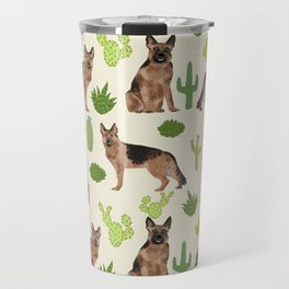German Shepherd Cactus desert southwest dog lover gifts dog breed service dog Travel Mug