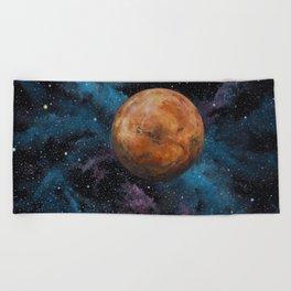 Mars and Stars Beach Towel