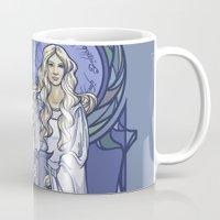 hallion Mugs featuring Galadriel Nouveau by Karen Hallion Illustrations