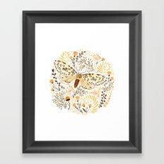 Giant Leopard Moth Framed Art Print