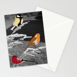 Birds on Grass Stationery Cards