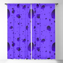 Large blueberry drops and petals on a light background in nacre. Blackout Curtain