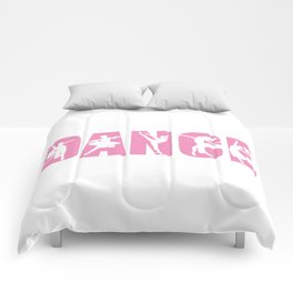 Dance in Light Pink with Dancer Cutouts Comforters