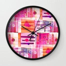 Sweet Pink Quilt Wall Clock