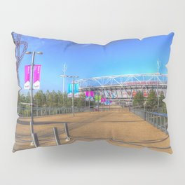 West Ham Olympic Stadium And The Arcelormittal Orbit  Pillow Sham