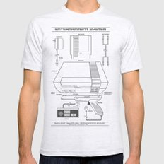 Entertainment System (light) MEDIUM Mens Fitted Tee Ash Grey