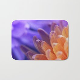 Flower Sunset | cute pastel flower, peach flowers, orange floral pattern, pretty petals, macro Bath Mat
