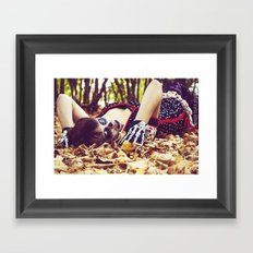 Between the trees. Framed Art Print