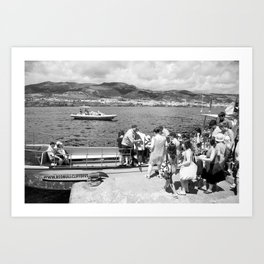 People embarking Art Print