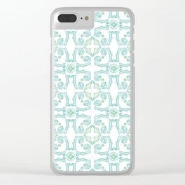 Moroccan Tile Pattern Clear iPhone Case