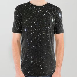 Space - Stars - Starry Night - Black - Universe - Deep Space All Over Graphic Tee