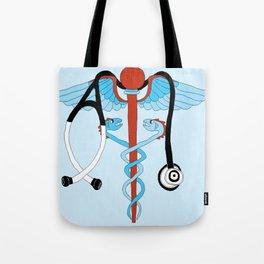 medical caduceus and stethoscope Tote Bag
