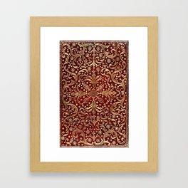 Golden Swirled Red Book Cover Framed Art Print