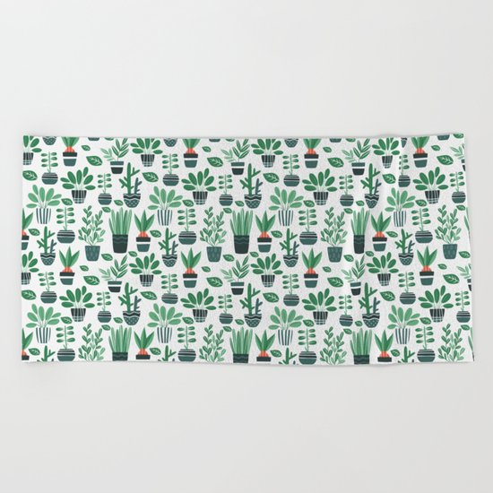 Ms Botany Greenery Beach Towel