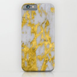 Luxury 24-Karat Gold Marble on Velvet Cream iPhone Case