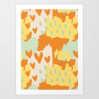 Abstract Art - When My Heart Comes Art Print