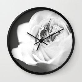 Light Grey Rose #1 #floral #art #society6 Wall Clock