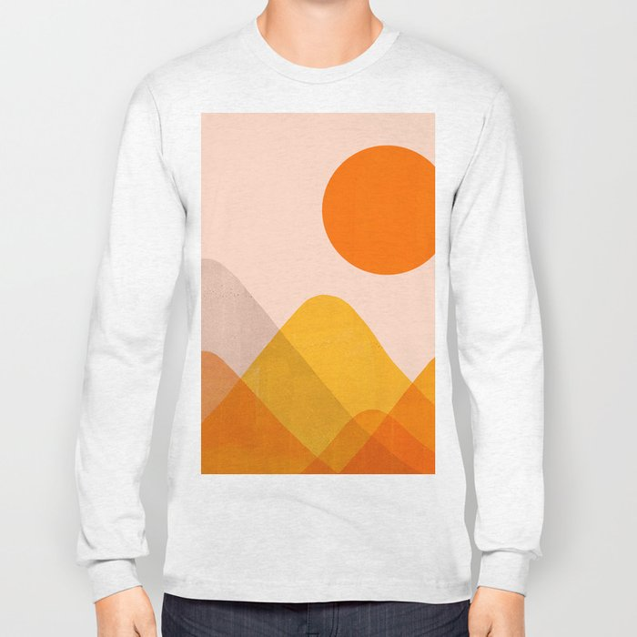 Abstraction_Mountains_02 Long Sleeve T-shirt