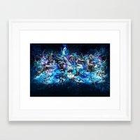 mythology Framed Art Prints featuring Mythology by theycallmeteddy