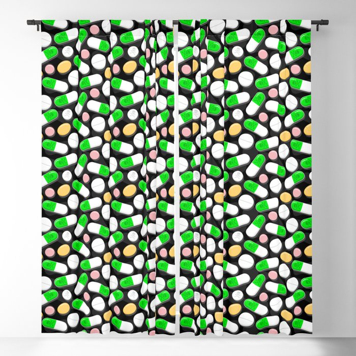 Deadly Pills Pattern Blackout Curtain