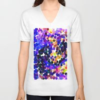 confetti V-neck T-shirts featuring Confetti by Art-Motiva