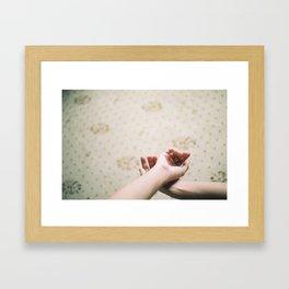 Love hands Framed Art Print