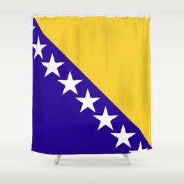 Bosnia and Herzegovina flag emblem Shower Curtain