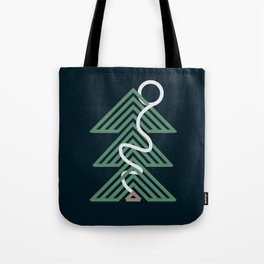 Forest Cabin Tote Bag