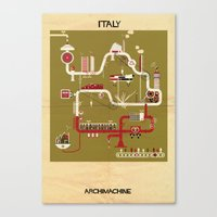 italy Canvas Prints featuring Italy by federico babina