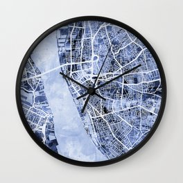 Liverpool England City Street Map Wall Clock
