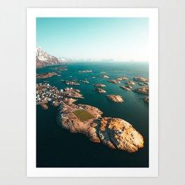 Norway Lofoten Henningsvær Soccer field V2 Art Print