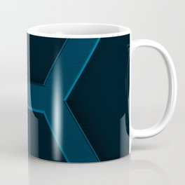 Brushed metal hexagon grille Coffee Mug
