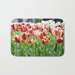 Striped tulips Bath Mat