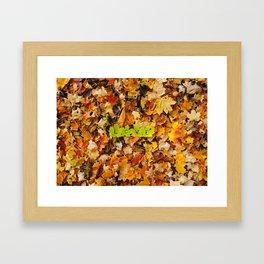 Love in the Fall Leaves Framed Art Print