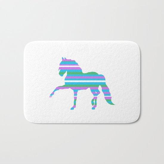 Horse Stripes Bath Mat