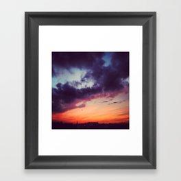 Burning Berlin Sky Framed Art Print