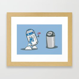 Robot Crush Framed Art Print