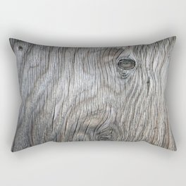 Real Aged Silver Wood Rectangular Pillow